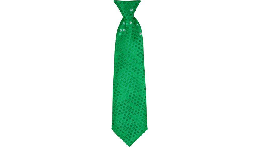 Makotex Krawatte Pailletten gruen