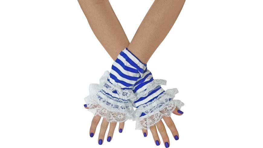Makotex Handstulpen Ringel blau weiss