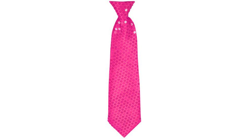 Makotex Krawatte Pailletten pink