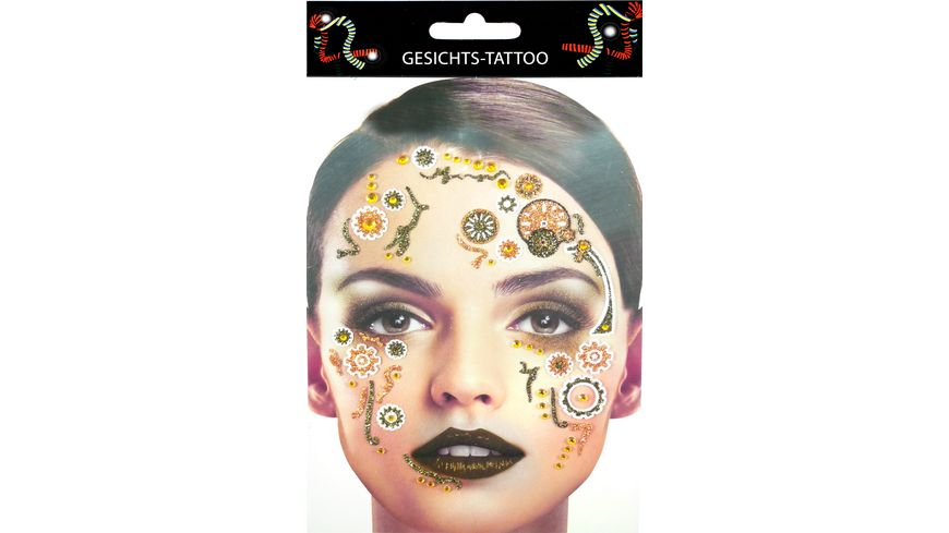 Makotex Gesichts Tattoo Steampunk