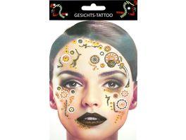 Makotex Gesichts Tattoo Steampunk
