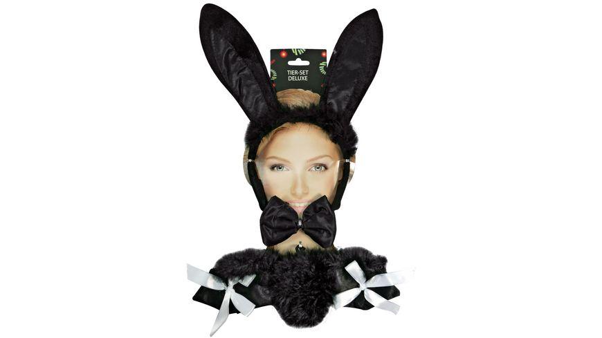 Makotex Hasen Set Deluxe Bunny schwarz