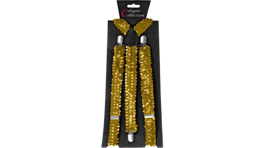 Makotex Hosentraeger Pailletten gold
