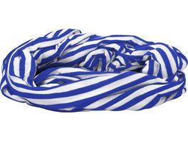 Makotex Rundschal Ringel blau weiss
