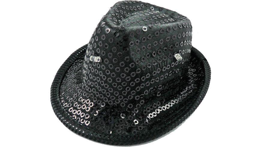 Makotex Minihut Pailletten schwarz