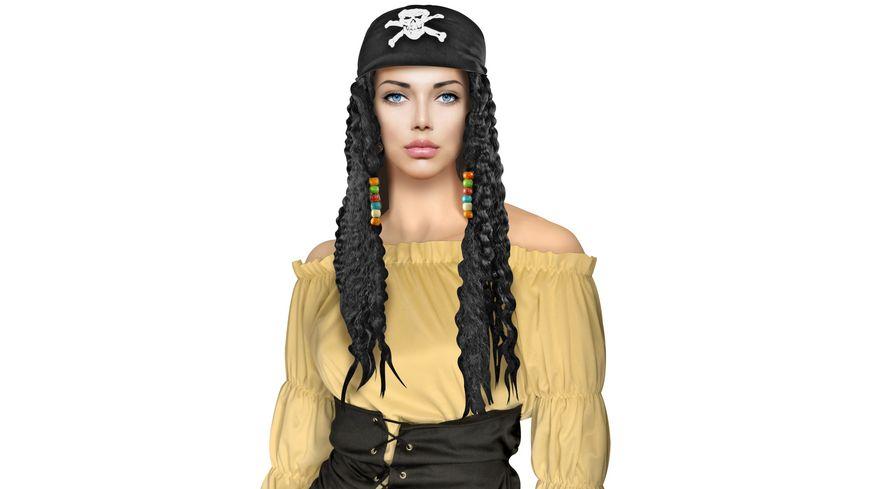 Makotex Peruecke Piratin schwarz