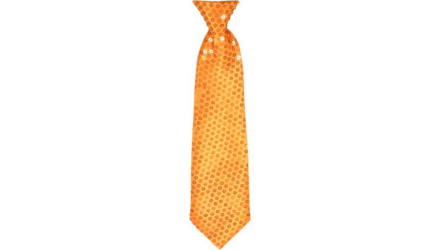 Makotex Krawatte Pailletten orange