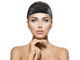 Makotex Stirnband Pailletten schwarz