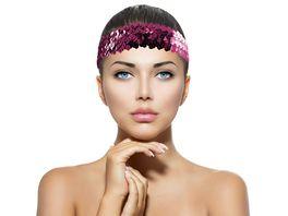 Makotex Stirnband Pailletten pink