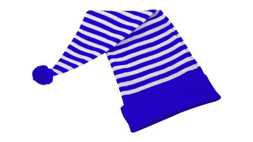 Makotex Zipfelmuetze Ringel blau weiss