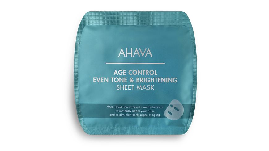 AHAVA Age Control Even Tone Brightening Sheet Mask