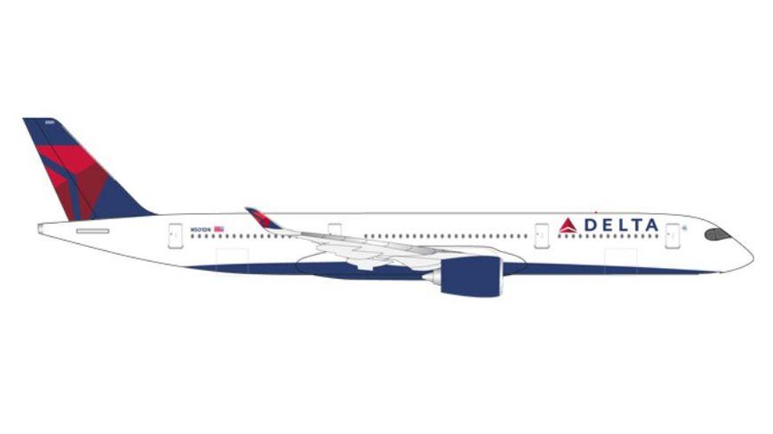Herpa 530859 Delta Air Lines Airbus A350 900 XWB N501DN