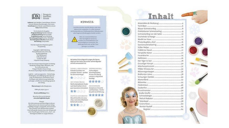 Buch Dorling Kindersley Verlag Kinderschminken leicht gemacht