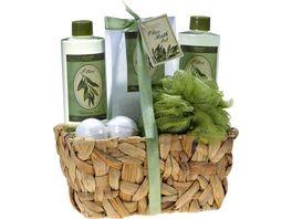 Geschenkset Olive im Koerbchen