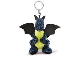 NICI Schluesselanhaenger Eisdrache Dragons schwarz blau 10cm Beanbag