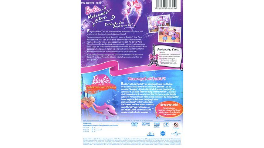 Barbie Doppelpack Modezauber in Paris Geheimnis von Oceana 2 DVDs