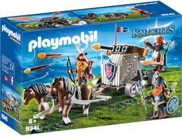 PLAYMOBIL 9341 Knights Ponygespann mit Zwergenballiste