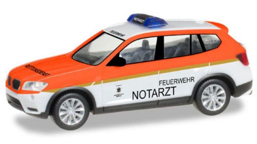 Herpa 093378 BMW X3 Feuerwehr Muenchen Notarzt