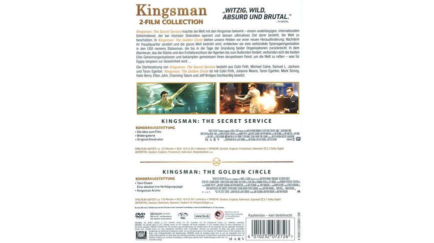 Kingsman Teil 1 2 2 DVDs