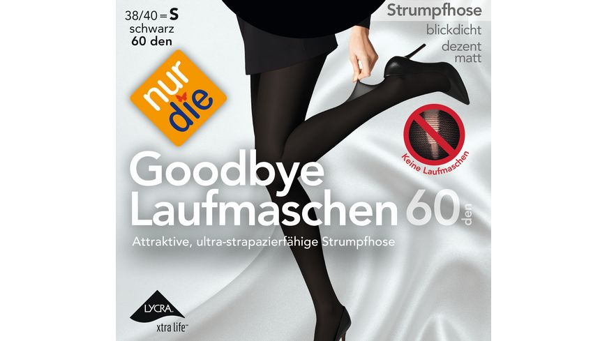 NUR DIE Strumpfhose Goodbye Laufmaschen 60
