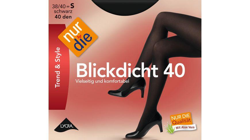 NUR DIE Strumpfhose Blickdicht 40