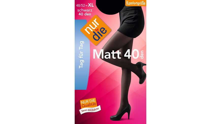 NUR DIE Strumpfhose Matt 40 Komfortgroesse