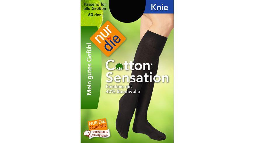 NUR DIE Damen Kniestrumpf Cotton Sensation 60