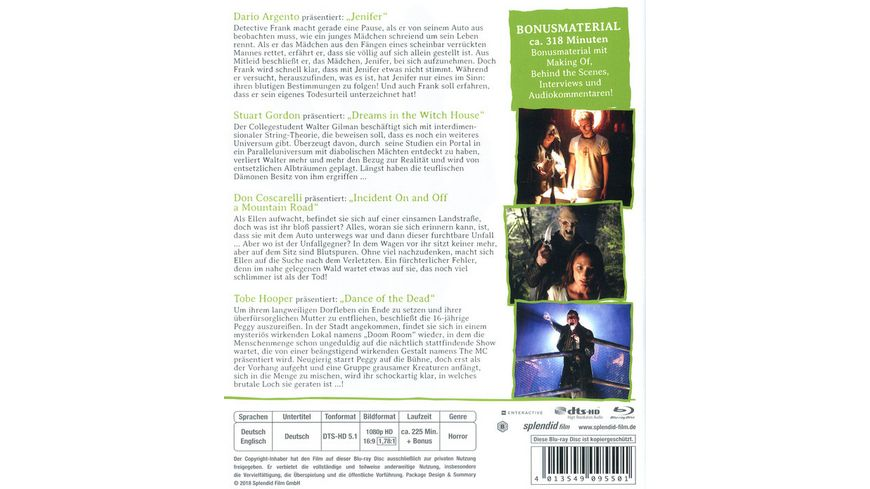 Masters of Horror 1 Vol 3 Argento Gordon Coscarelli Hooper