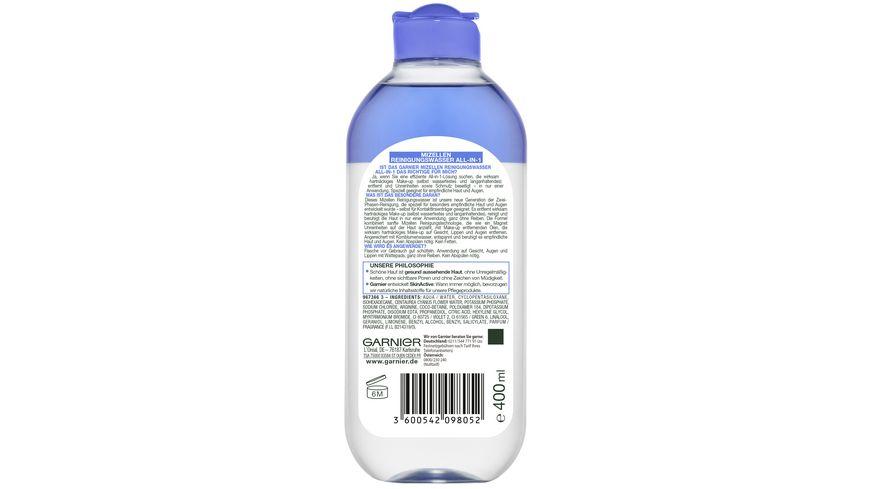 GARNIER SkinActive Mizellen Reinigungswasser All in 1 speziell fuer empfindliche Haut Augen