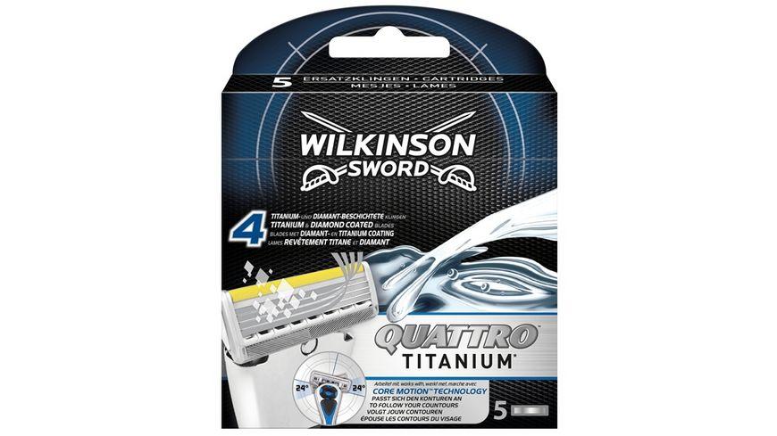 Wilkinson Sword Quattro Titanium Core Motion Herren Rasierklingen 5 Stueck