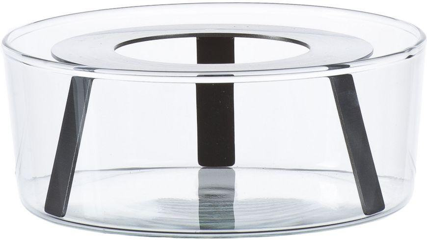Glasstoevchen mit Metalleinsatz
