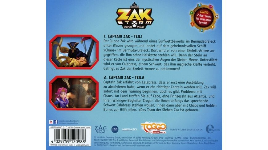 1 Original Hoerspiel z TV Serie Captain Zak