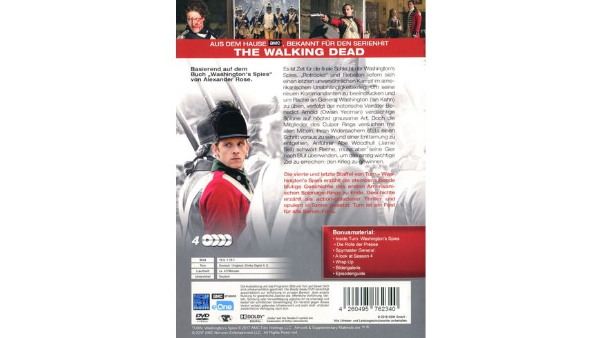 Turn Washington s Spies Staffel 4 4 DVDs
