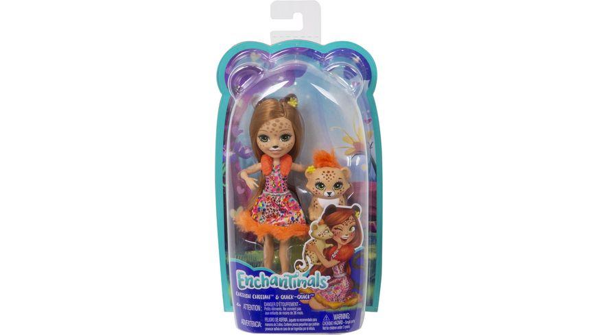 Mattel - Enchantimals - FJJ20 Gepardenmädchen Cherish Cheetah Puppe