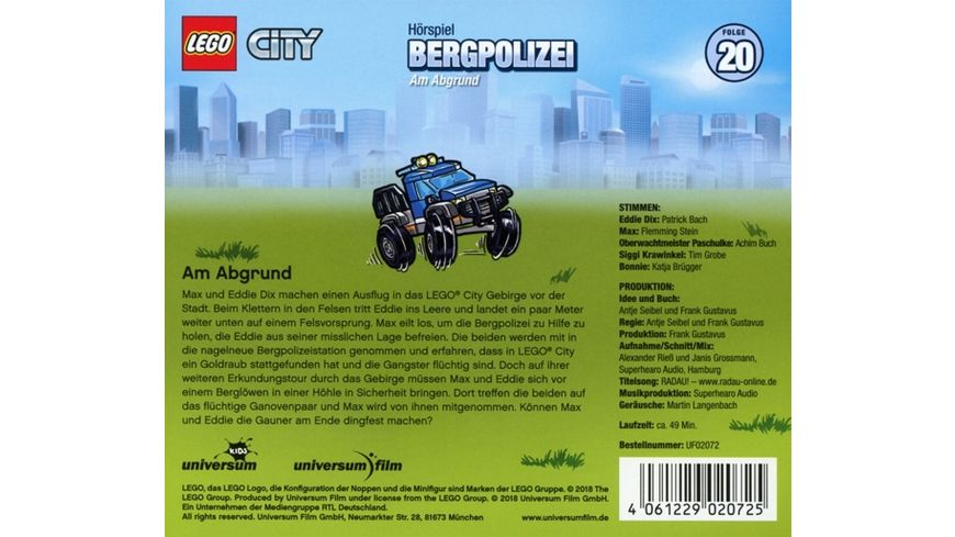 LEGO City 20 Bergpolizei CD
