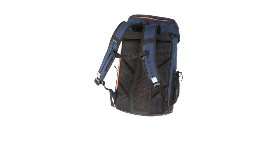 ACROSS Schulrucksack Option blue melange