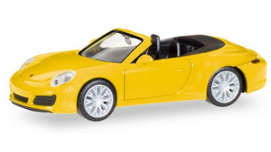 Herpa 28899 Porsche 911 Carrera 4S Cabrio racinggelb