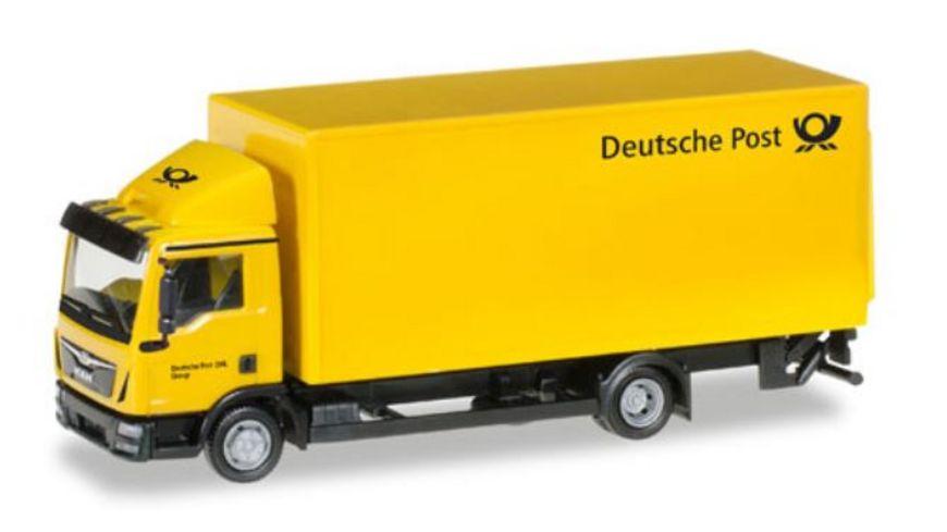 Herpa 308212 MAN TGL Koffer LKW mit Ladebordwand Deutsche Post