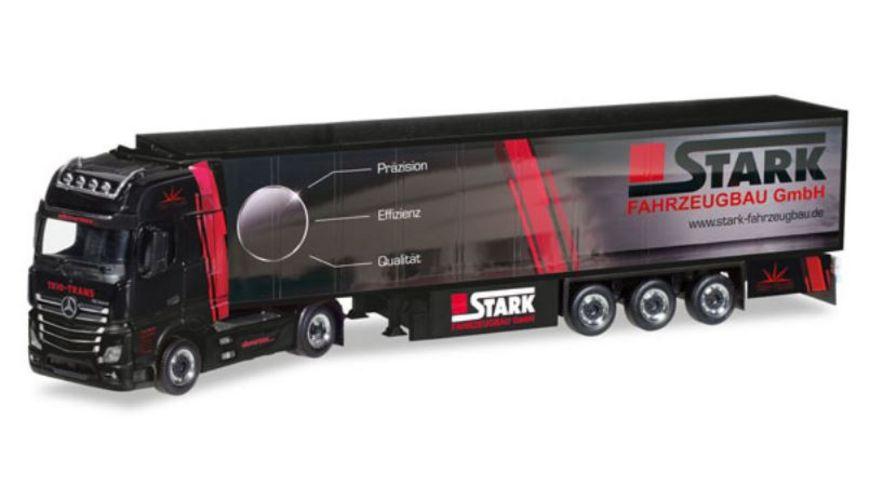 Herpa 308380 Mercedes Benz Actros Giga Kuehlkoffer Sattelzug Trio Trans Stark Fahrzeugbau