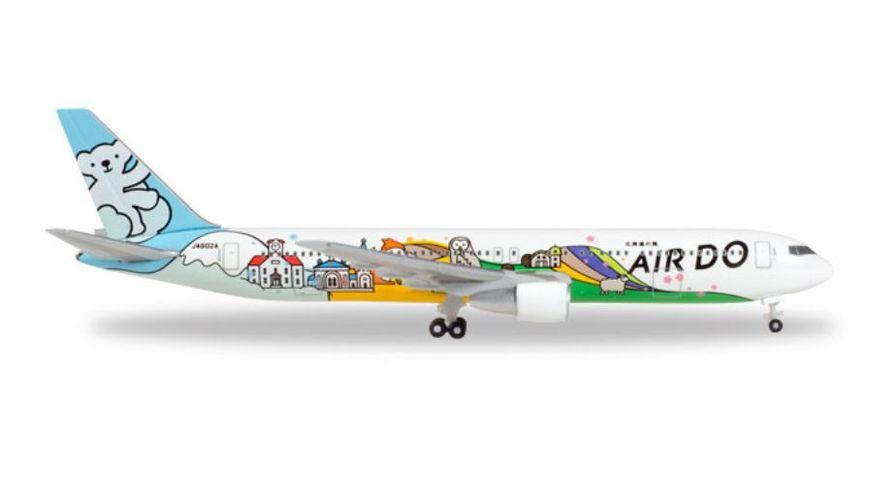 Herpa 531016 Wings Air Do Boeing 767 300 Bear Do Hokkaido Jet JA602A