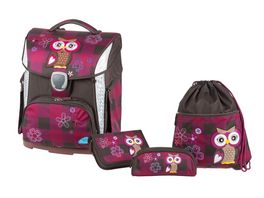 SCHNEIDERS Toolbag Plus 4 teiliges Set Olivia the Owl Dark Red