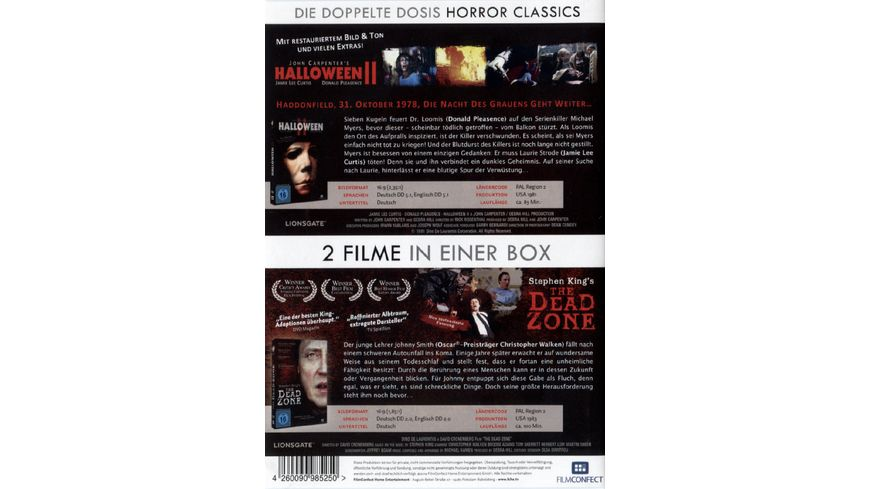 Halloween 2 The Dead Zone 2 DVDs