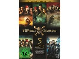Pirates of the Caribbean 1 5 Box 5 DVDs