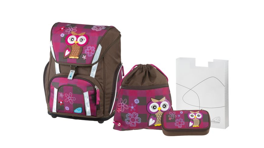 TOOLBAG SMART Schulranzen Set 4teilig Olivia the owl