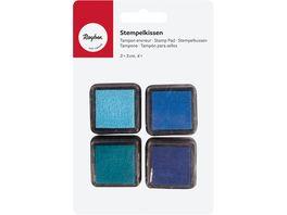 Rayher Mini Stempelkissen Set Boys 3x3 cm 4 Stueck