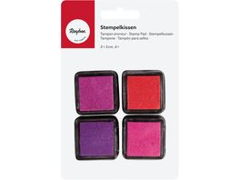 Rayher Mini Stempelkissen Set Girls 3x3 cm 4 Stueck