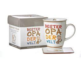 RITZENHOFF BREKER Becher mit Untersetzer BESTER OPA