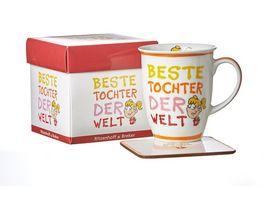 RITZENHOFF BREKER Becher mit Untersetzer BESTE TOCHTER