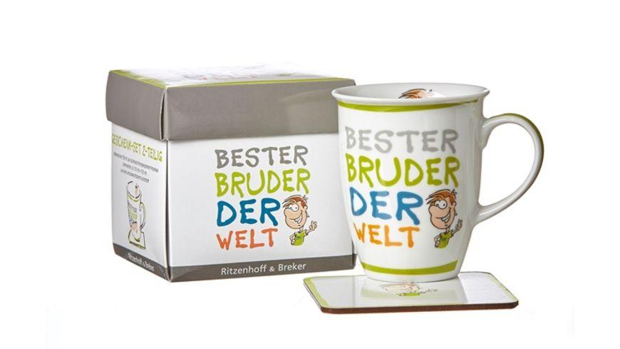 RITZENHOFF BREKER Becher mit Untersetzer BESTER BRUDER