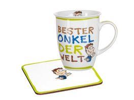 RITZENHOFF BREKER Becher mit Untersetzer BESTER ONKEL